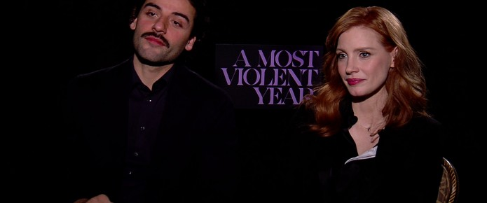 Exclusive Video Interview With Jessica Chastain And Oscar Isaac On A Most Violent Year