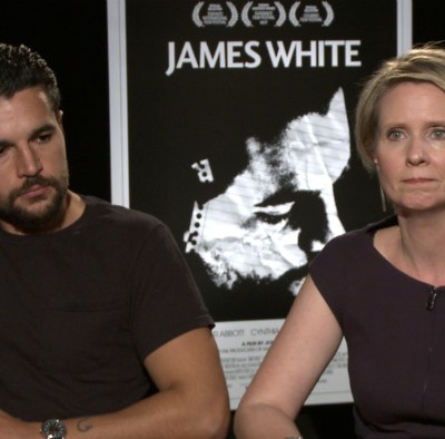 'Exclusive Video Interview: Cynthia Nixon And Chris Abbott Talk James White' from the web at 'http://cdn.wegotthiscovered.com/wp-content/uploads/vlcsnap-2015-11-03-21h44m12s114-400x394.jpg'