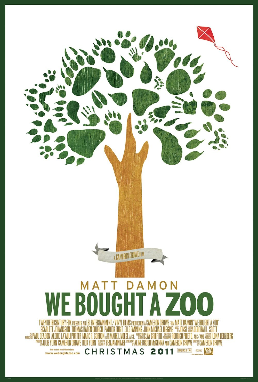 Creative New Poster For We Bought A Zoo