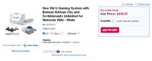 GameStop Creates Wii U Waiting List, Toys R Us Creates Shenanigans