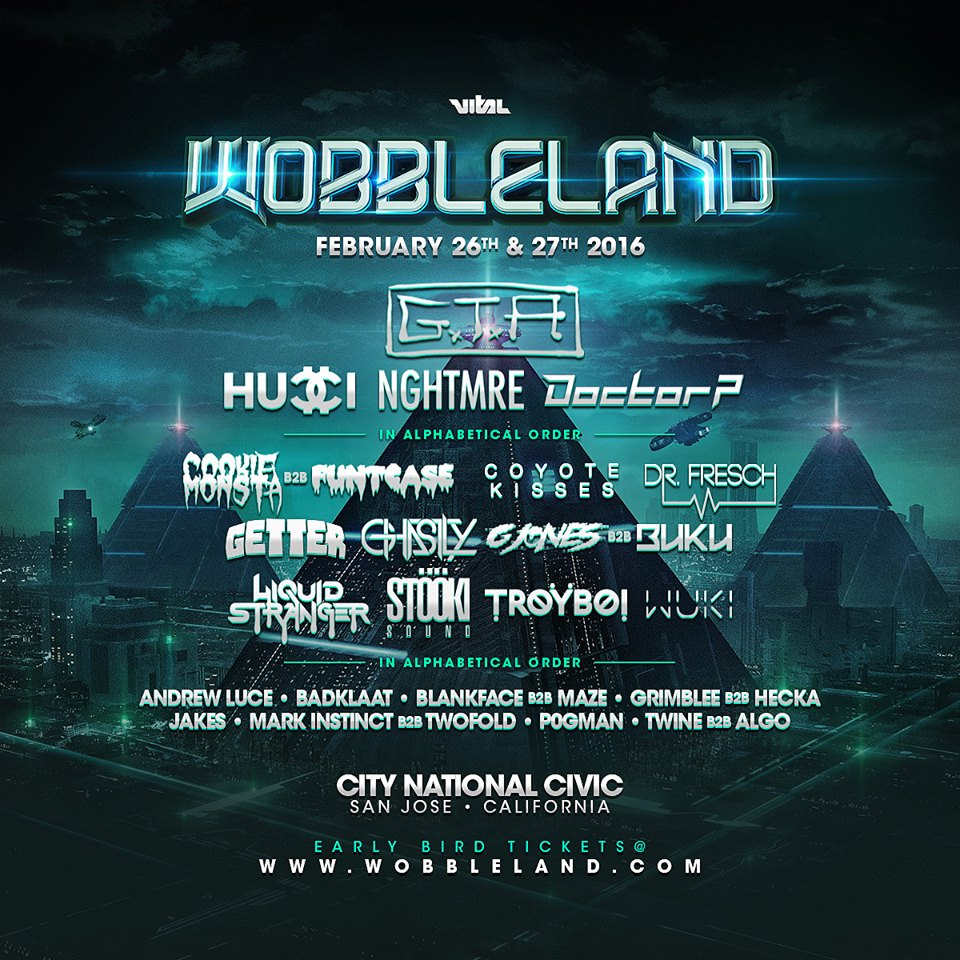 GTA, NGHTMRE And Doctor P Top Wobbleland Lineup