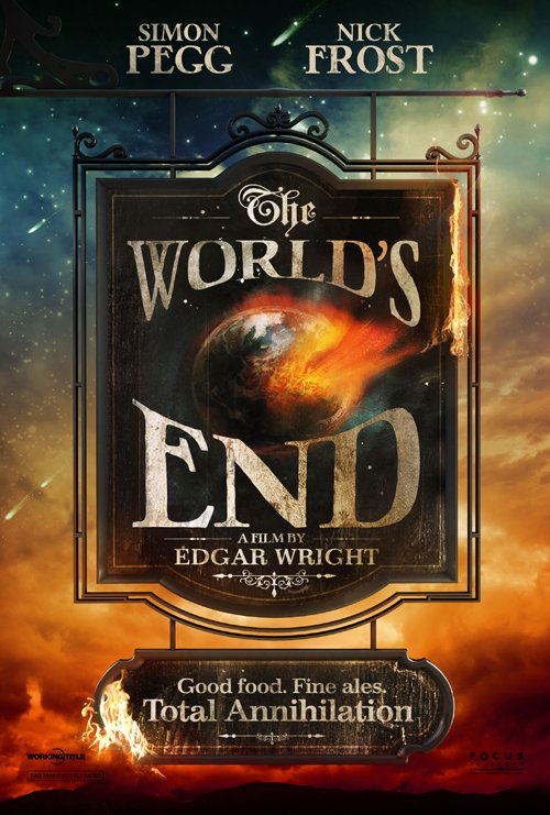 worlds end poster Poster Revealed And Date Set For Edgar Wrights The World's End