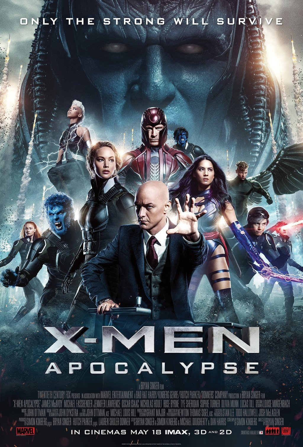 Only The Strong Will Survive In X-Men: Apocalypse IMAX Poster