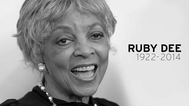 yiqlwwzy7so8c6c6nzcr Actress And Civil Rights Activist Ruby Dee Dies At 91