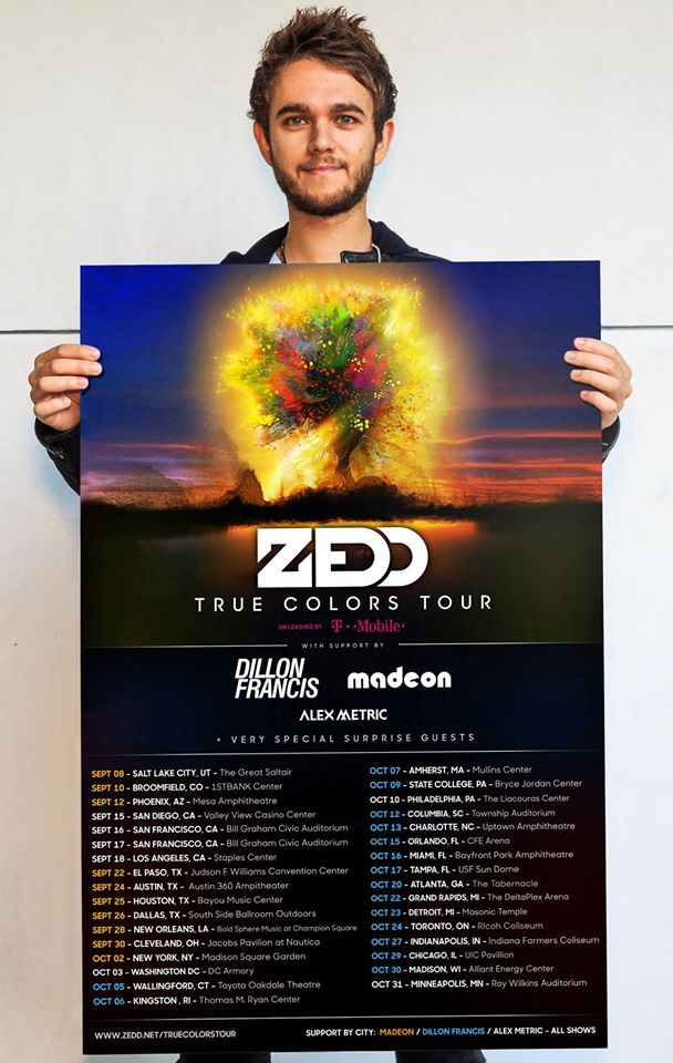 Zedd Joined By Major Names On True Colors Tour